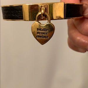 Vintage Juicy Couture gold leather bracelet